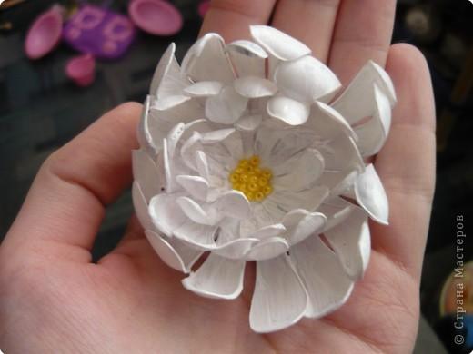 Вот такие цветочки сделала на днях из пластиковых бутылок. фото 2