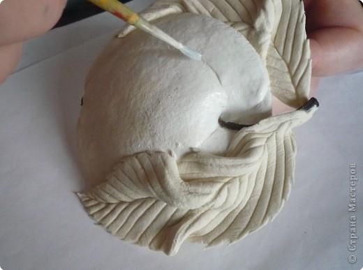 Мастер-класс Лепка МК роспись яблока Тесто соленое фото 3
