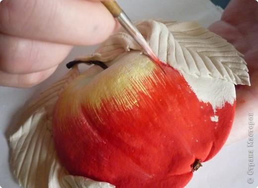 Мастер-класс Лепка МК роспись яблока Тесто соленое фото 10