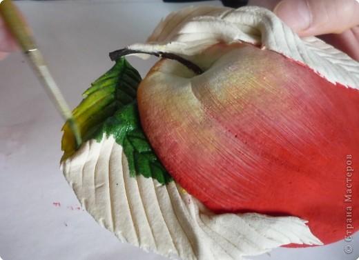Мастер-класс Лепка МК роспись яблока Тесто соленое фото 12