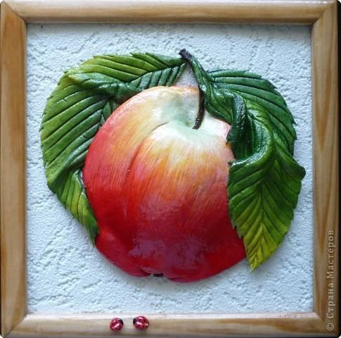 Мастер-класс Лепка МК роспись яблока Тесто соленое фото 15