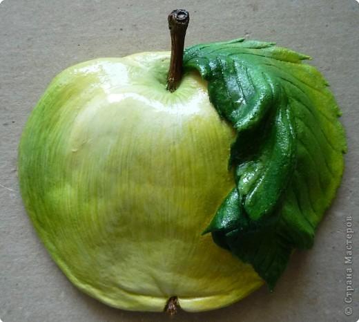 Мастер-класс Лепка МК роспись яблока Тесто соленое фото 16