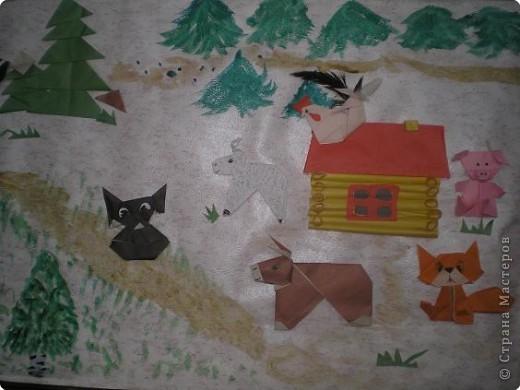 Оригами: Работы в детском саду фото 26