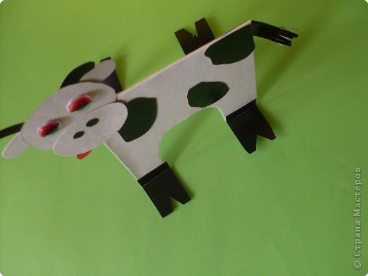 Корова из картона фото 2
