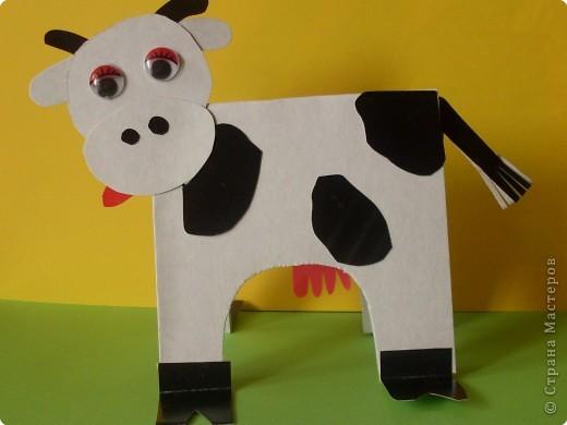 Корова из картона фото 1