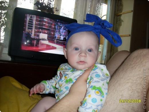Сдесь нам 4 месяца,а на голове памперс!!! фото 5