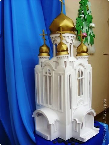 Рождество бумагопластика храм