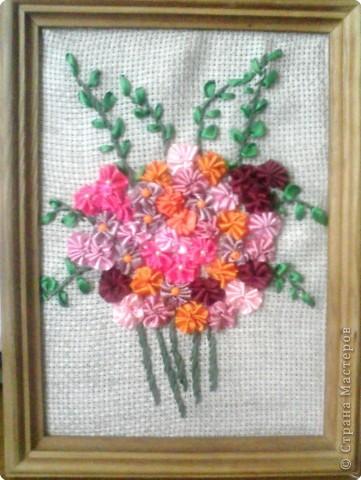 Вышивка: свадебный букетик