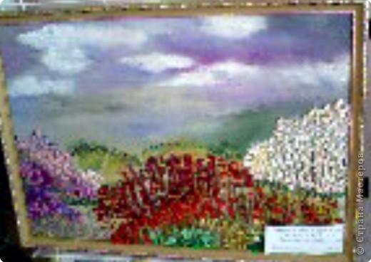 Вышивка: лиловый закат