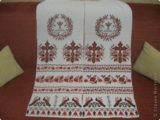 крестом Венчальный рушник