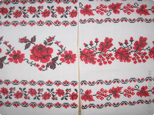 Схема вышивки венчальных рушников