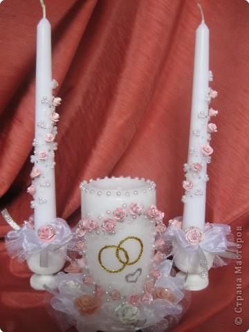Украшение свадебных свеч своими руками с