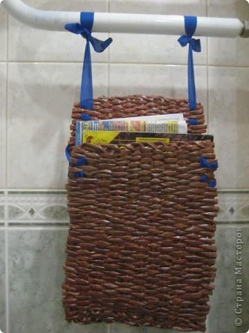 Плетение: Держалка для газет и журналов