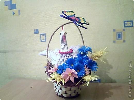 Квиллинг, Оригами модульное: курица фото 4