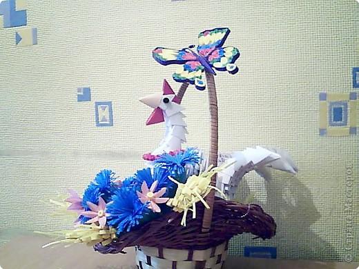 Квиллинг, Оригами модульное: курица фото 2