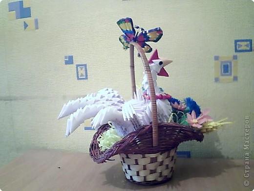 Квиллинг, Оригами модульное: курица фото 1