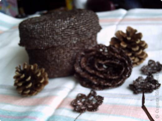 Вязание крючком: Шкатулка крючком.Вязание из необычного материала фото 4