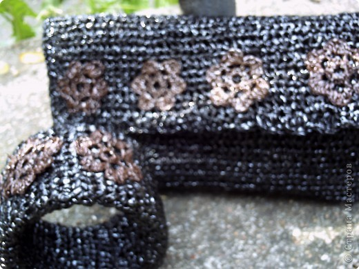 Сумочка клатч/косметичка из мусора