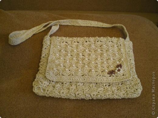 Связалась ажурная сумочка. фото 2