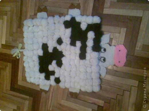 вот такой коврик сделала по мастер-классу на этом сайте фото 1