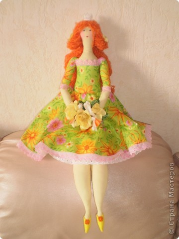 Принцесса Толстушка. Рост 60 см. Выкройку тильды толстушки немного изменила (ноги и голову) и увеличила. фото 3