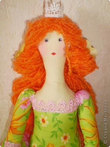 Принцесса Толстушка. Рост 60 см. Выкройку тильды толстушки немного изменила (ноги и голову) и увеличила. фото 2