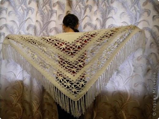 """В книге """"Русские узоры"""" эта шаль называлась- хризантемы. фото 15"""