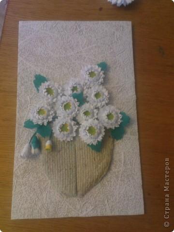 спасибо Ольге Ольшак вот такой подарок у меня получился. Очень понравились цветы Ольги,но для моей рамочки они велики (сделала поменьше, но что то не очень довольно. пора начинать учится рамочки углублять))) фото 3