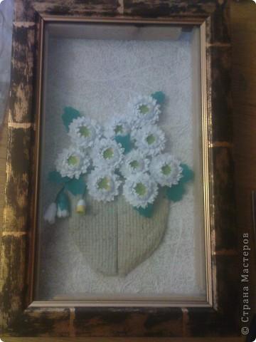 спасибо Ольге Ольшак вот такой подарок у меня получился. Очень понравились цветы Ольги,но для моей рамочки они велики (сделала поменьше, но что то не очень довольно. пора начинать учится рамочки углублять))) фото 4