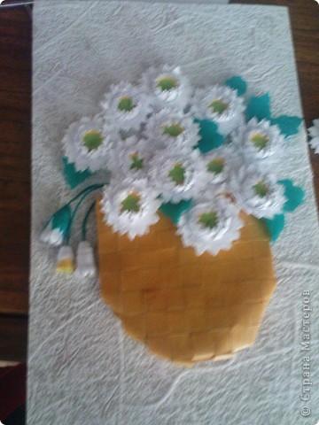 спасибо Ольге Ольшак вот такой подарок у меня получился. Очень понравились цветы Ольги,но для моей рамочки они велики (сделала поменьше, но что то не очень довольно. пора начинать учится рамочки углублять))) фото 6