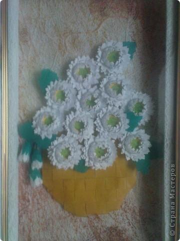 спасибо Ольге Ольшак вот такой подарок у меня получился. Очень понравились цветы Ольги,но для моей рамочки они велики (сделала поменьше, но что то не очень довольно. пора начинать учится рамочки углублять))) фото 2