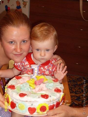 Тортик на 1 годик доченьки! фото 1