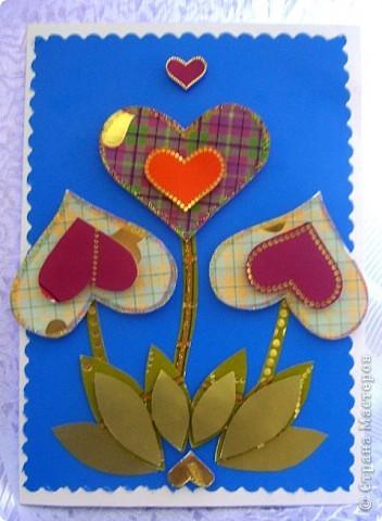 Открытка с сердечками фото 1