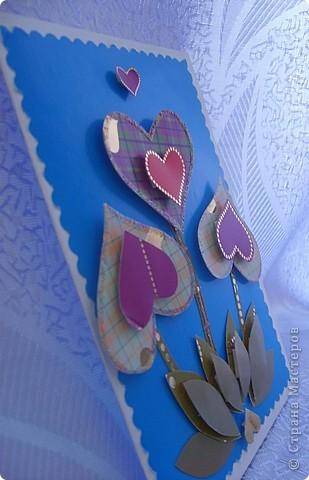 Открытка с сердечками фото 2