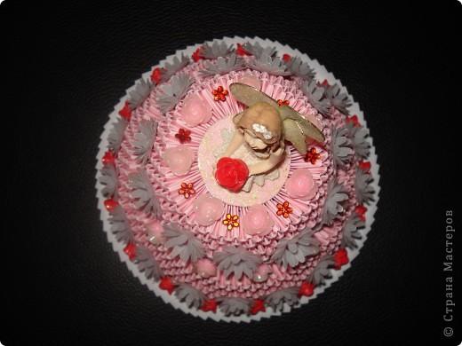 Мини тортик сделан из модулей размером 4х7 см. фото 3