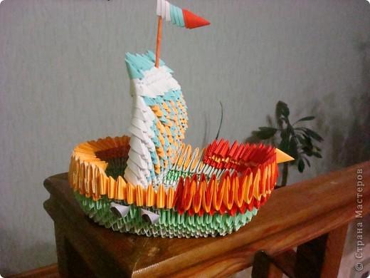 Вот такой у меня получился кораблик. фото 1