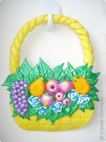 Корзиночка с фруктами. фото 1
