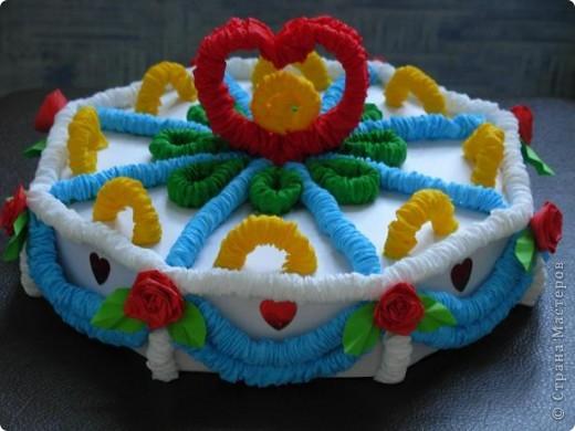 Получился вот такой тортик. фото 1