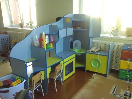 Такой кухней я украсила группу своего сына. фото 1