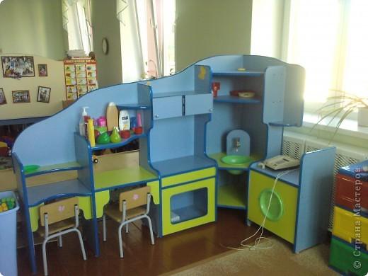 Такой кухней я украсила группу своего сына. фото 2