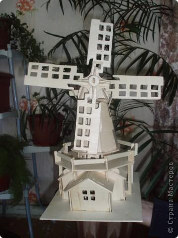 вот такую мельницу соорудил наш папа, нам в подарок фото 1