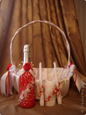 """Свадебный набор """"Красное вино"""" фото 1"""