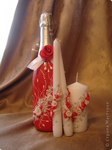 """Свадебный набор """"Красное вино"""" фото 2"""