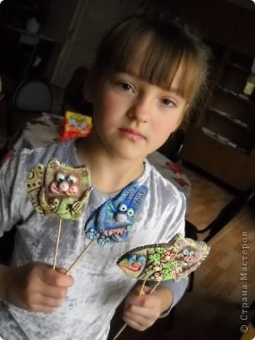 Это мои украшения для цветочных горшочков на шпажках. фото 4