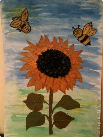 Картина из сушеных листьев