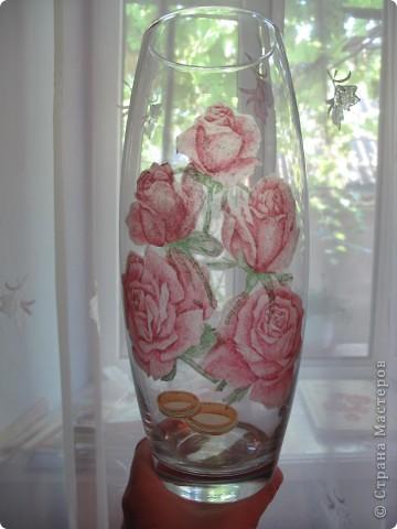 """Ваза """"Розы"""" фото 1"""