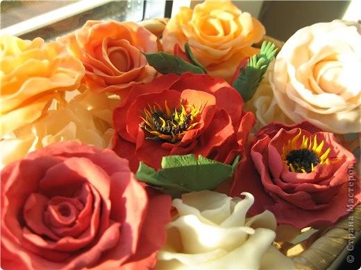 Поделка изделие Флористика искусственная Лепка цветы из холодного фарфора Фарфор холодный фото 3