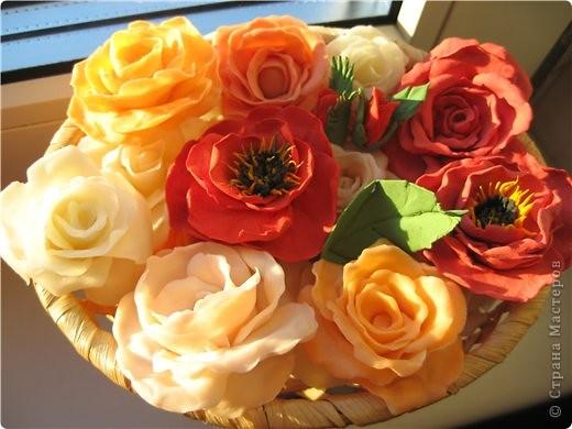 Поделка изделие Флористика искусственная Лепка цветы из холодного фарфора Фарфор холодный фото 2