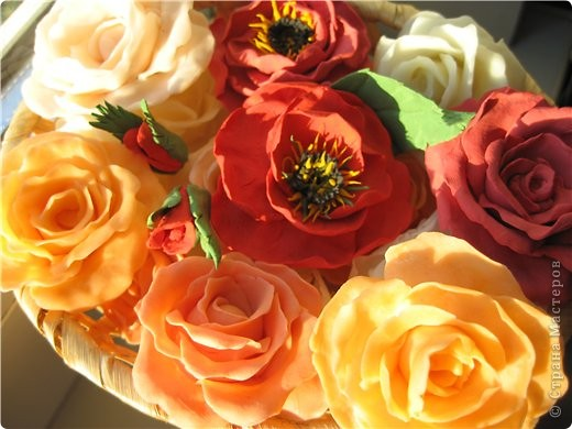Поделка изделие Флористика искусственная Лепка цветы из холодного фарфора Фарфор холодный фото 1