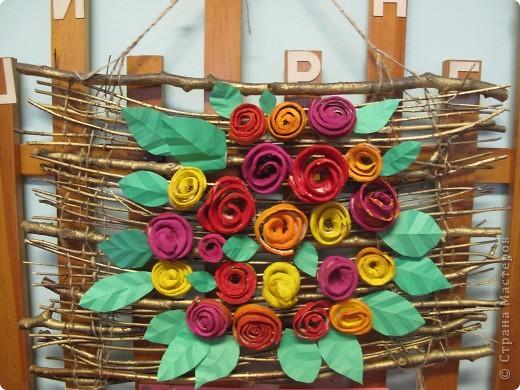 Розы из апельсиновых корок фото 1